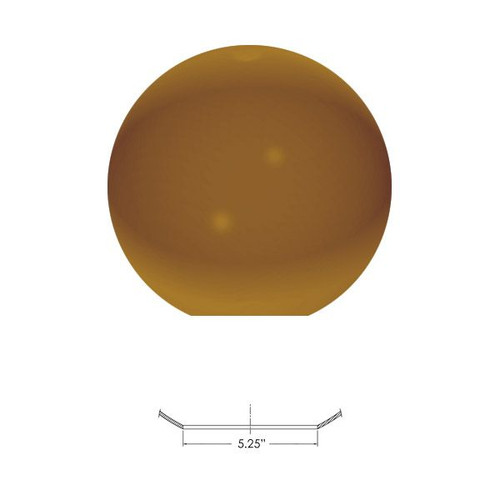 Replacement Bronze 14 Inch Outdoor Acrylic Light Globe Neckless