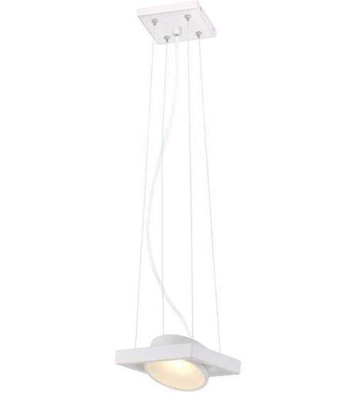Nuvo Lighting 62-995 White 1 Light LED Pivoting Head Pendant