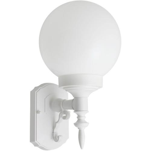 18W CFL Elegant Porch Light White Globe White Housing 3500K