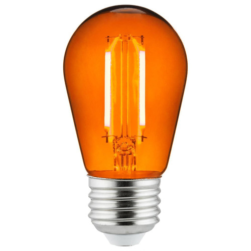 Sunlite 81090-SU S14/LED/FS/2W/TY 2 Watt LED Filament Light Orange