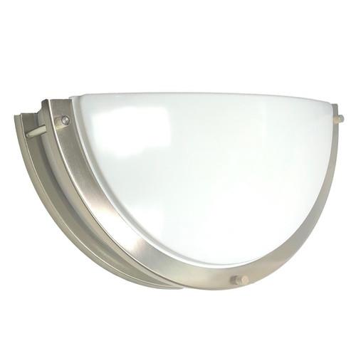 LED Nickel Decorative Wall Sconces Half Circle Modern Style