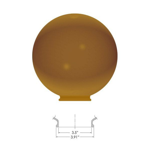 """Replacement Bronze 10"""" Outdoor Polycarbonate Globe Cover 
