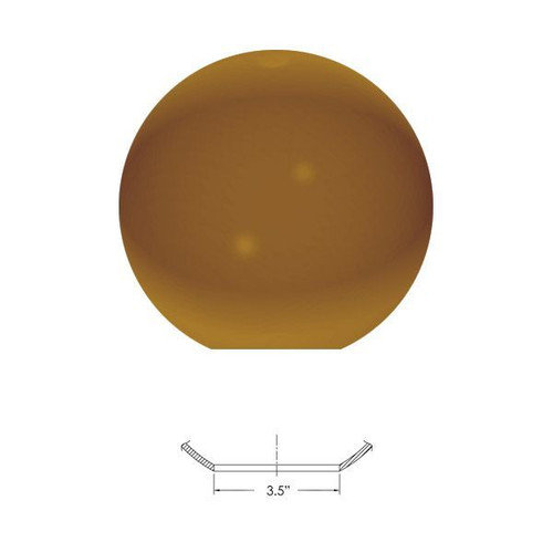 "Replacement Bronze 12"" Outdoor Polycarbonate Globe Neckless"