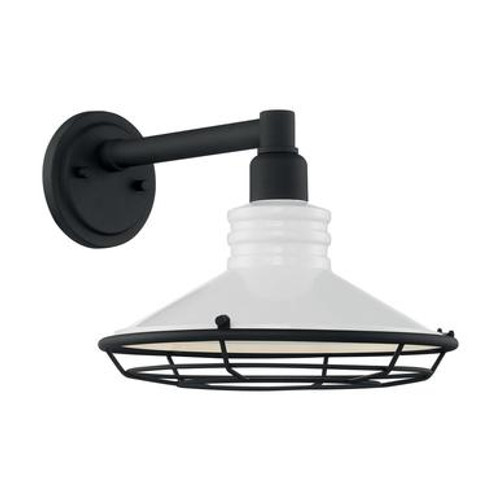 Nuvo 60-7052 Gloss White and Textured Black Wall Mount Fixture