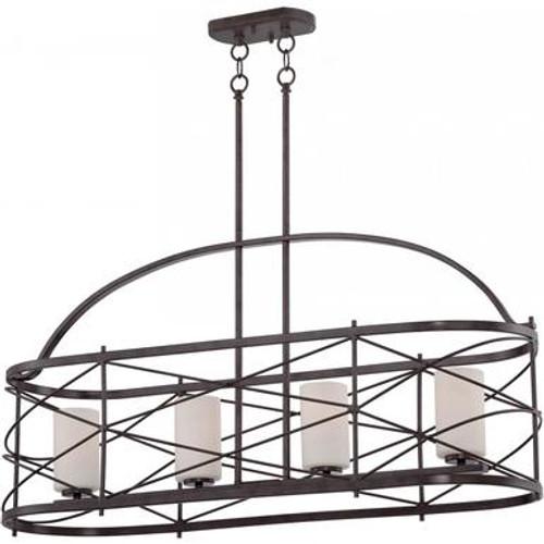 Nuvo 60-5338 Old Bronze 4 Light Ceiling Mount Fixture