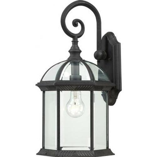"""Nuvo Lighting 60-4966 """" Outdoor Wall Lantern with Glass and Metal"""