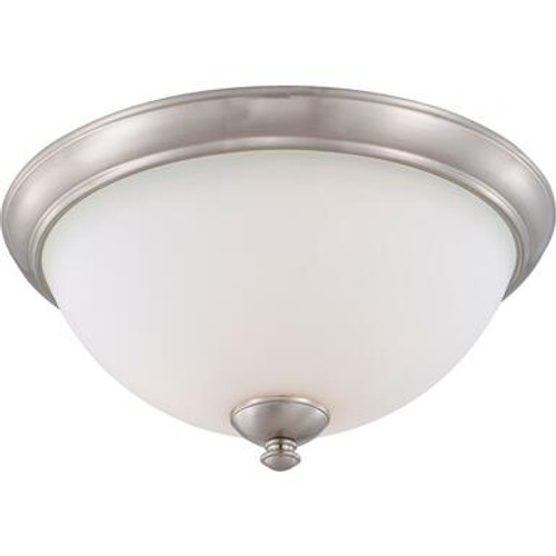 Nuvo 60-5041 Brushed Nickel 3 Light Ceiling Fixture