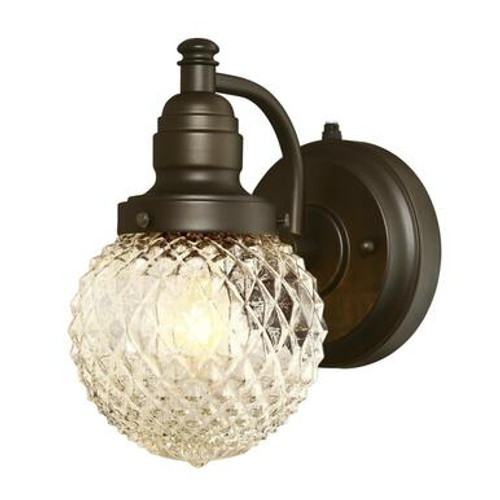 Westinghouse 6313700 Eddystone One-Light Outdoor Wall Fixture with Dusk to Dawn Sensor