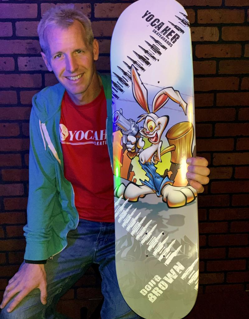 "Yocaher Complete Skateboard 7.75""  - Radical Rabbit"