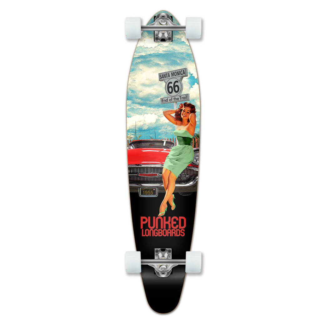 Yocaher Kicktail Longboard Complete - Route 66 Series - RTE-66