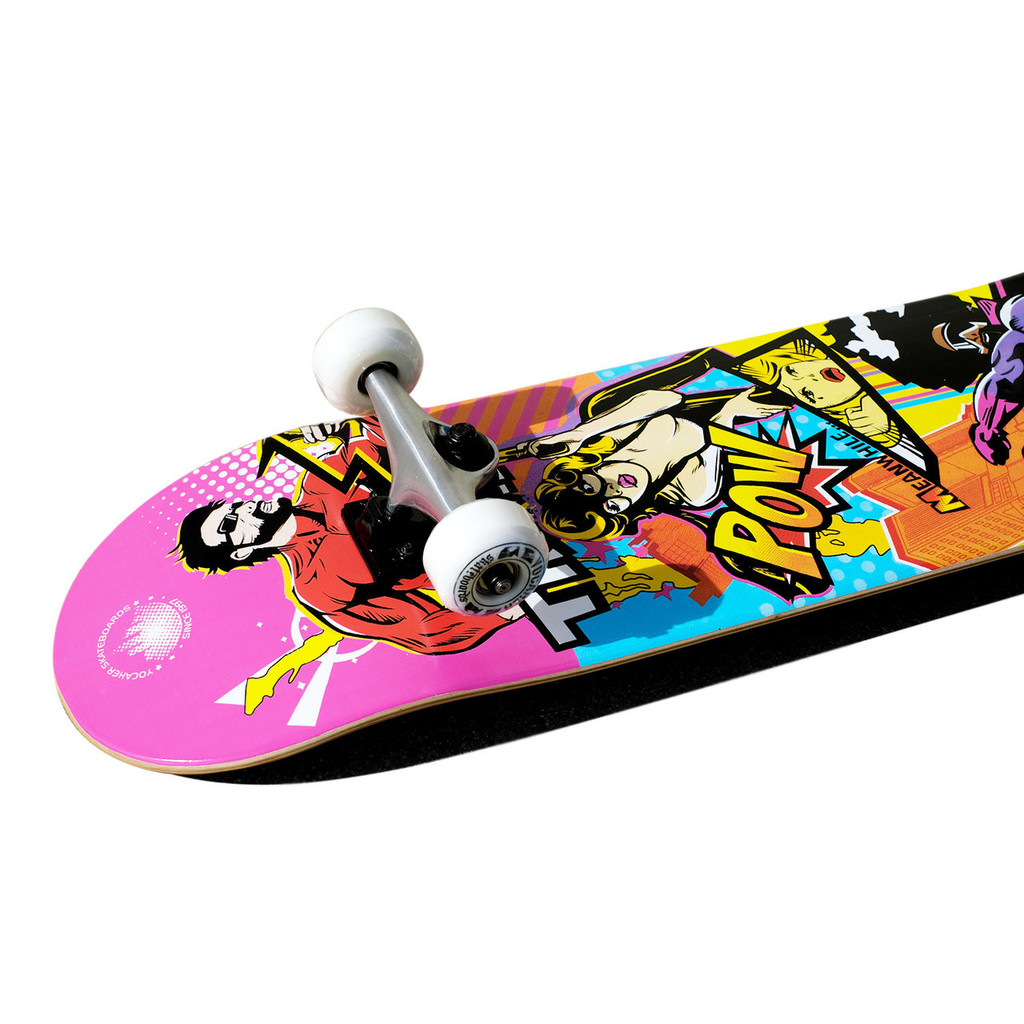 Graphic Complete Skateboard - Comix Series - Action