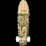 Yocaher Slimkick Longboard Deck - Spirit Animal LION