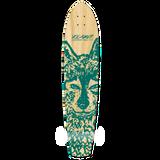 Yocaher Slimkick Longboard Deck - Spirit Animal WOLF