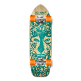 Yocaher Old School Longboard Complete - Spirit Animal Series - Wolf