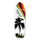 Yocaher Old School Longboard Deck - Palm City Rasta