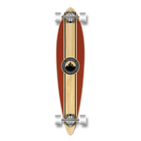 Yocaher Pintail Longboard Complete - Crest Burgundy