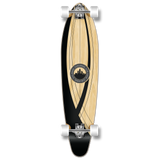 Yocaher Kicktail Longboard Complete - Crest Onyx