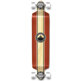 Yocaher Drop Down Longboard Complete - Crest Burgundy