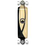 Yocaher Drop Down Longboard Complete - Crest Onyx