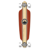 Yocaher Drop Through Longboard Complete - Crest Burgundy