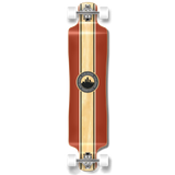 Yocaher Lowrider Longboard Complete - Crest Burgundy