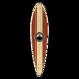 Yocaher Pintail Longboard Deck - Crest Burgundy