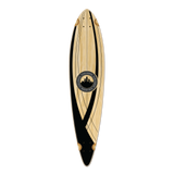 Yocaher Pintail Longboard Deck - Crest Onyx