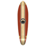 Yocaher Kicktail Longboard Deck - Crest Burgundy