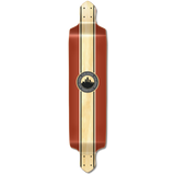 Yocaher Drop Down Longboard Deck - Crest Burgundy