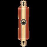 Yocaher Lowrider Longboard Deck - Crest Burgundy