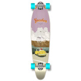 Yocaher Kicktail Longboard Complete - VW Bettle Series - Yellow