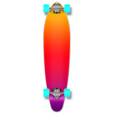 Yocaher Kicktail Longboard Complete - Gradient Pink