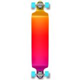 Yocaher Drop Down Longboard Complete - Gradient Pink