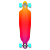 Yocaher Drop Through Longboard Complete - Gradient Pink