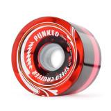 Speed Cruiser 70mm Longboard Wheels - Gel Red
