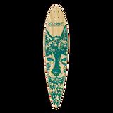 Yocaher Pintail Longboard Deck - Spirit Animal WOLF