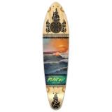 Yocaher Kicktail Longboard Deck - Wave Scene