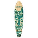 Yocaher Kicktail Longboard Deck - Spirit Animal WOLF