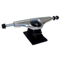 """125mm / 5"""" Skateboard Trucks - Chrome / Black (Pair of 2 )"""