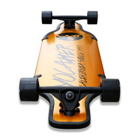 Yocaher Aluminum Drop Through longboard Complete  - Gold