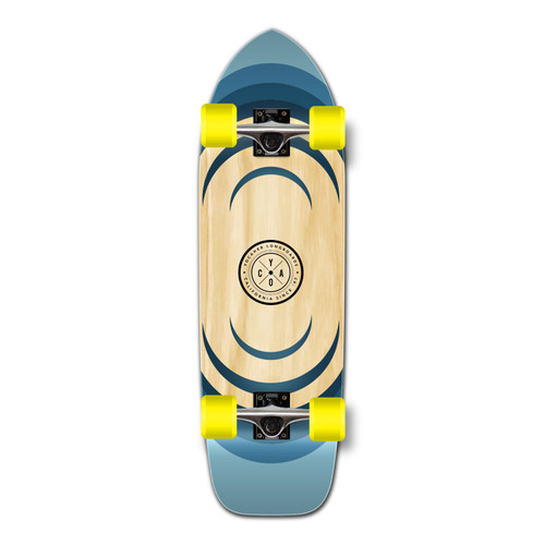 Yocaher Old School Longboard Complete - Earth Series - Ripple