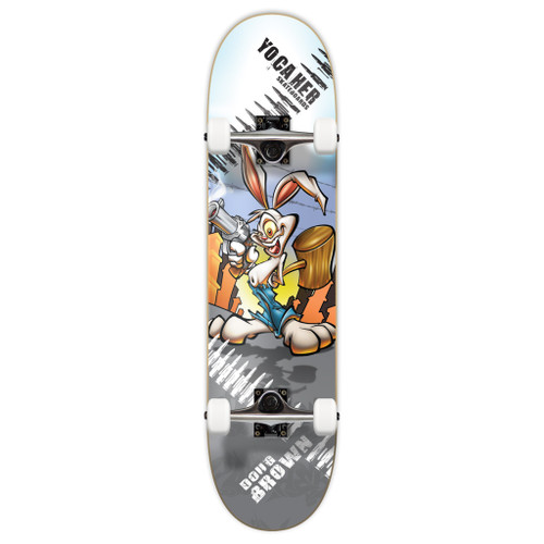 "Yocaher Complete Skateboard 7.75""  - Radical Rabbit"