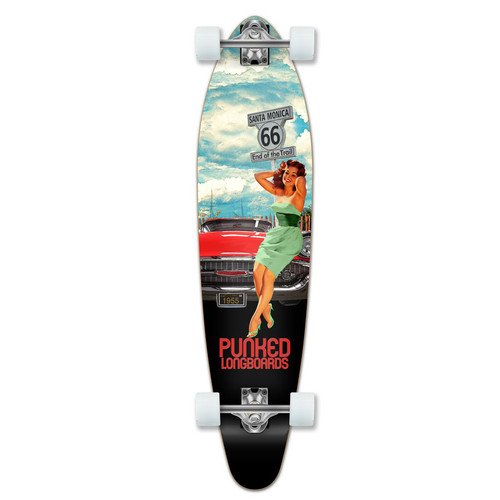 Kicktail Longboard Complete - Route 66 Series - RTE-66