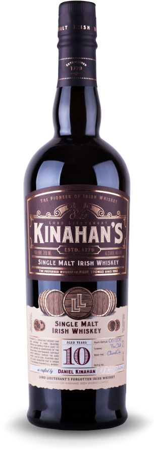 kinahans single malt 10 yo whiskey