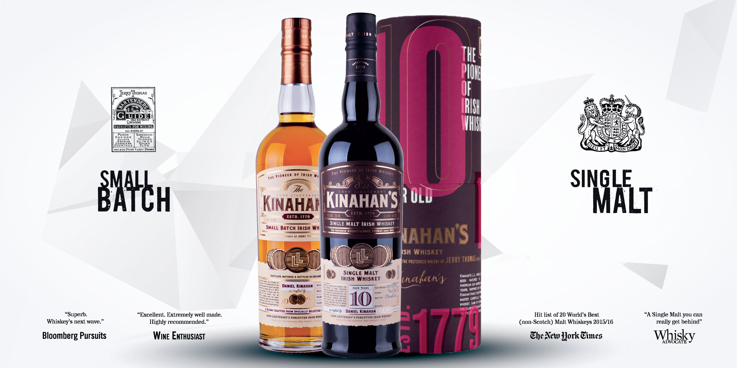 Kinahans whiskey heritage line