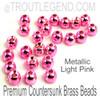 Metallic Light Pink Brass CounterSunk TroutLegend Beads (25packs)