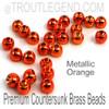 Metallic Orange Brass CounterSunk TroutLegend Beads (25packs)