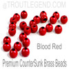 Blood Red Brass CounterSunk TroutLegend Beads (25packs)