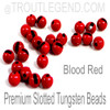 Blood Red Tungsten Slotted TroutLegend Beads (25packs)