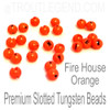Fire House Orange Tungsten Slotted TroutLegend Beads (25packs)